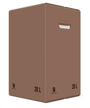 Carton Bib Bag in Box 20L Flexo Oenobag Ecru