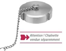 Chainettes pour bouchons femelles SMS inox 316L