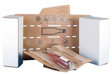 Cartons pour bouteilles de vin et calages à expédier Voyageur II
